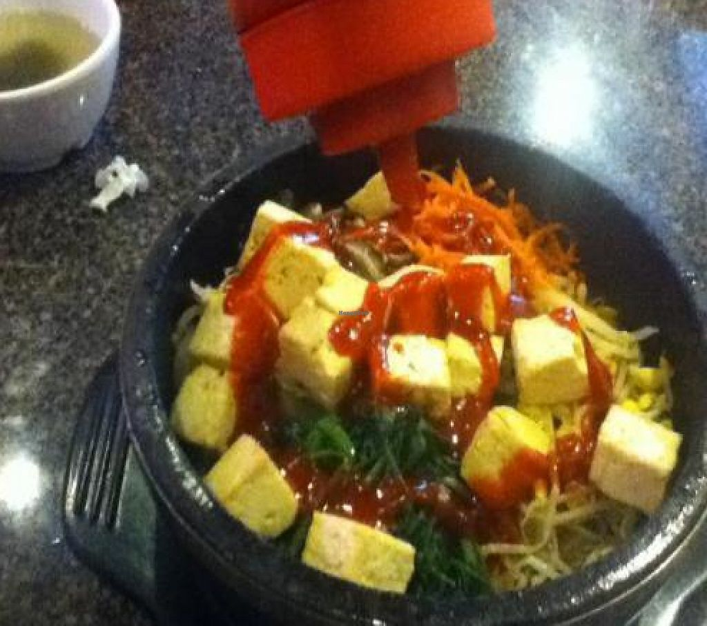 "Photo of Kimchi Korean Restaurant  by <a href=""/members/profile/PennsyltuckyVeggie"">PennsyltuckyVeggie</a> <br/>Tofu Dolsot - ask for a bottle of the traditional red pepper paste and stir it in <br/> October 19, 2011  - <a href='/contact/abuse/image/28593/192128'>Report</a>"