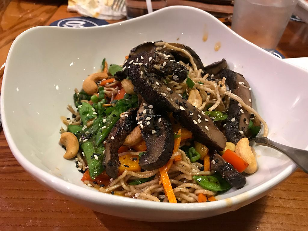 """Photo of Otto's Pub and Brewery  by <a href=""""/members/profile/nlevine94"""">nlevine94</a> <br/>Soba noodles with added portobello. $12. Medium portion size, asian zing of spice, great mushroom <br/> December 5, 2017  - <a href='/contact/abuse/image/28595/332372'>Report</a>"""