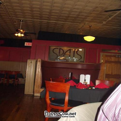 """Photo of CLOSED: Spats Cafe and Speakeasy  by <a href=""""/members/profile/PennsyltuckyVeggie"""">PennsyltuckyVeggie</a> <br/>Spats interior, dining room looking back toward the kitchen <br/> October 24, 2011  - <a href='/contact/abuse/image/28597/11505'>Report</a>"""