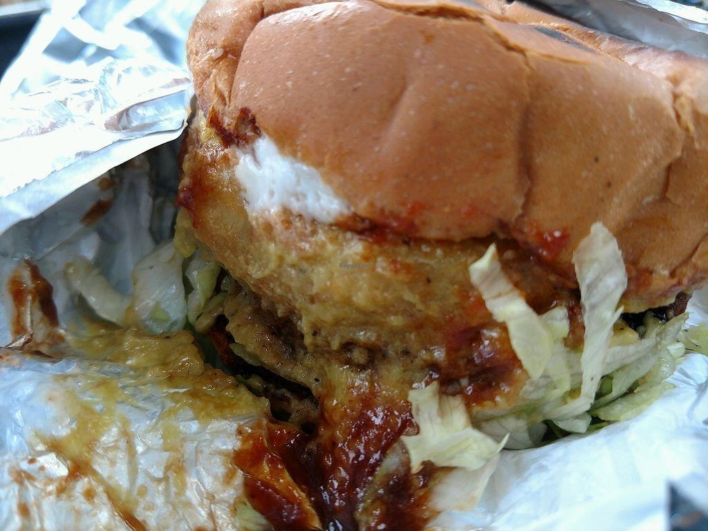 "Photo of CLOSED: Loving Hut Express - Food Cart  by <a href=""/members/profile/MrsBAJ"">MrsBAJ</a> <br/>BBQ Burger <br/> September 12, 2017  - <a href='/contact/abuse/image/28607/303834'>Report</a>"