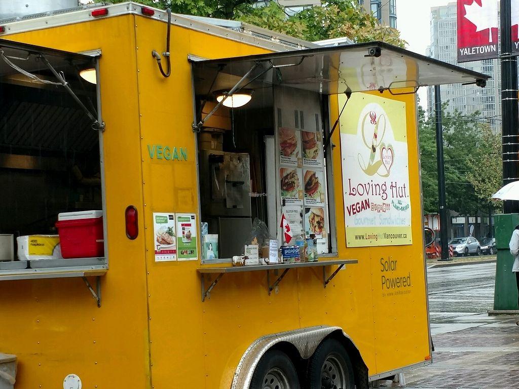 "Photo of CLOSED: Loving Hut Express - Food Cart  by <a href=""/members/profile/MrsBAJ"">MrsBAJ</a> <br/>Cute <br/> September 12, 2017  - <a href='/contact/abuse/image/28607/303835'>Report</a>"