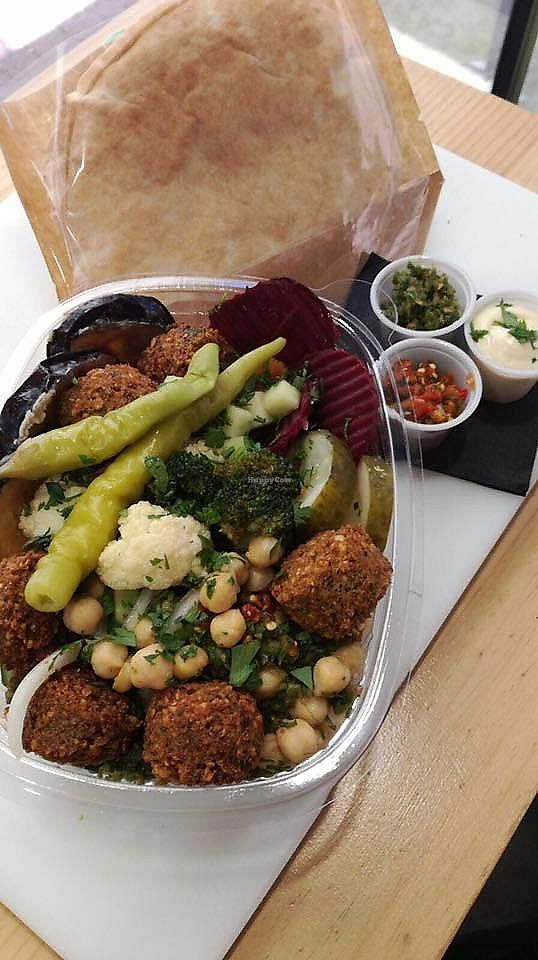 """Photo of Fal&Feel  by <a href=""""/members/profile/CRUSTYS"""">CRUSTYS</a> <br/>Falafel Salad Box. Yummi  <br/> October 20, 2017  - <a href='/contact/abuse/image/28618/316867'>Report</a>"""