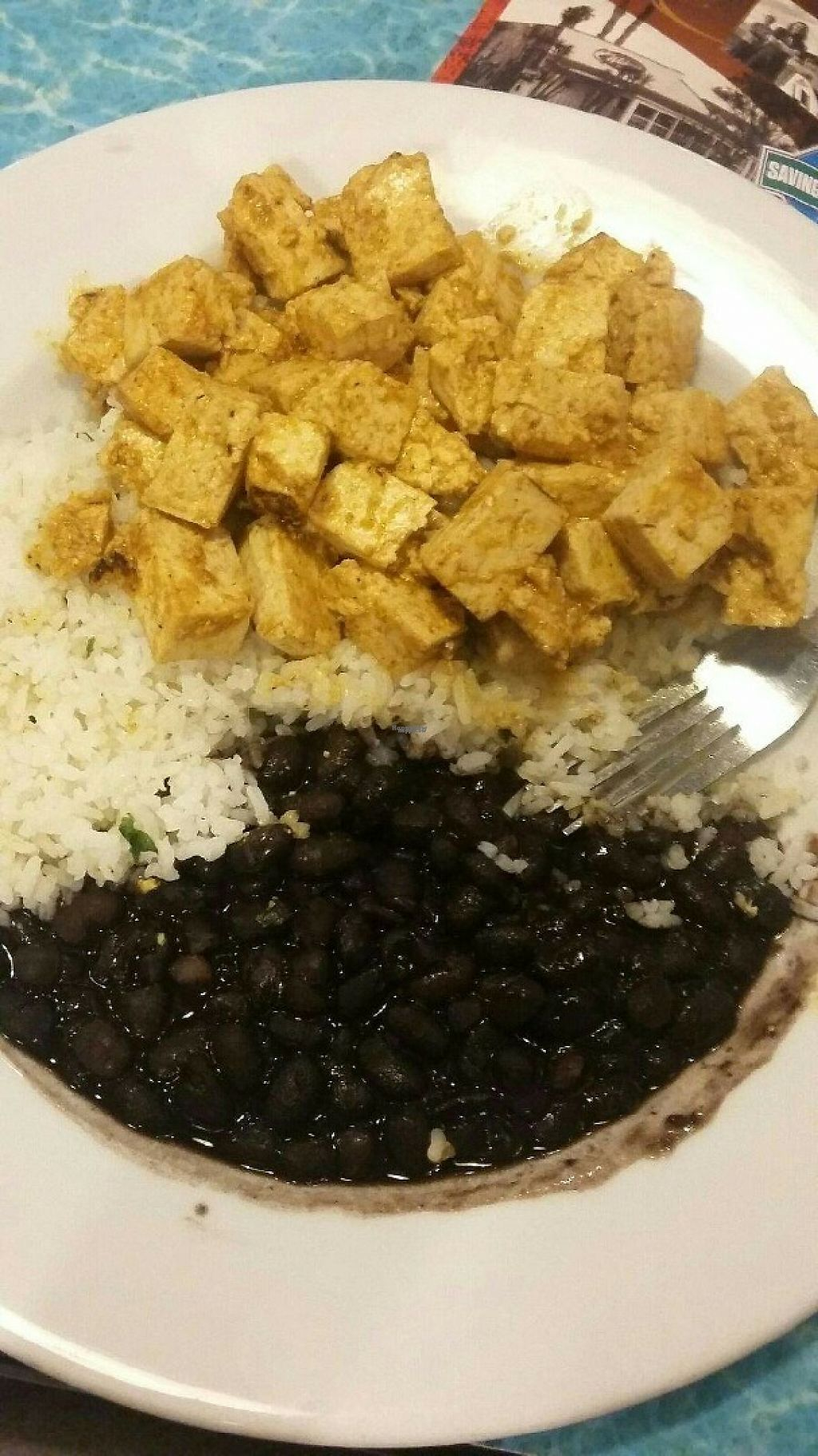 """Photo of Wahoo's  by <a href=""""/members/profile/anastronomy"""">anastronomy</a> <br/>My Wahoo's Bowl: sauteed tofu, black bean, white rice, and pico de gallo on the side <br/> January 8, 2017  - <a href='/contact/abuse/image/28647/209422'>Report</a>"""