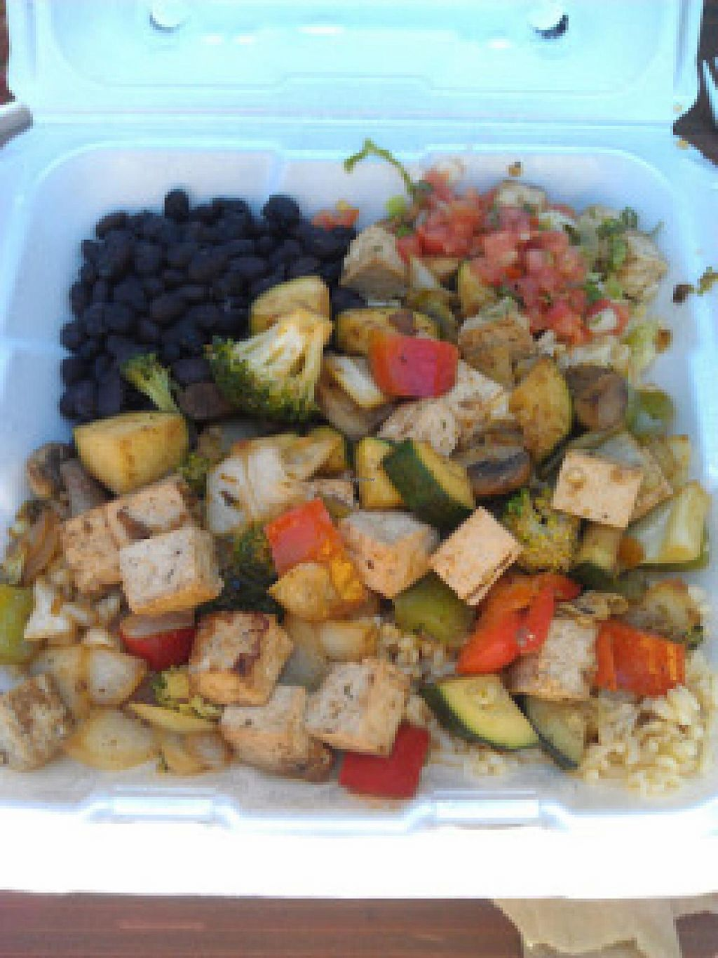 """Photo of Wahoo's - 4S Ranch  by <a href=""""/members/profile/Meggie%20and%20Ben"""">Meggie and Ben</a> <br/>Wafu Bowl: Sautéed Polynesian tofu and banzai veggies over brown rice <br/> January 4, 2015  - <a href='/contact/abuse/image/28653/89489'>Report</a>"""