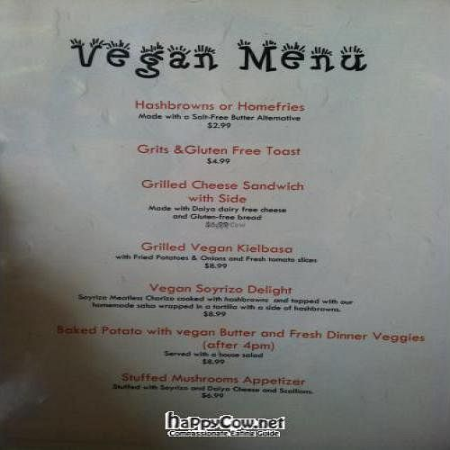 """Photo of CLOSED: The Lovin' Spoonfull  by <a href=""""/members/profile/goldie711"""">goldie711</a> <br/>vegan menu <br/> October 9, 2011  - <a href='/contact/abuse/image/28687/11149'>Report</a>"""