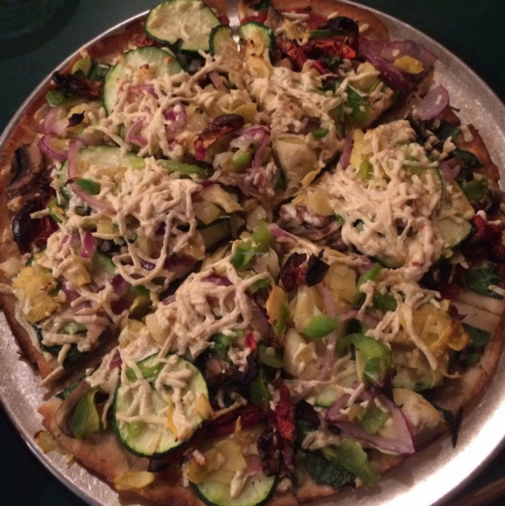 """Photo of Lake Tahoe Pizza Company  by <a href=""""/members/profile/Medman"""">Medman</a> <br/>California veggie pizza! GF and with nondairy cheese <br/> April 21, 2016  - <a href='/contact/abuse/image/28692/145628'>Report</a>"""