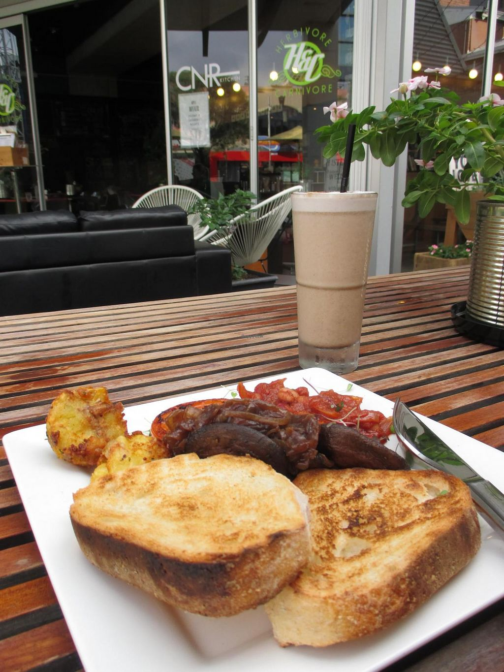 """Photo of CLOSED: CNR Cafe  by <a href=""""/members/profile/alia_801"""">alia_801</a> <br/>Big vegan breakfast and chai latte smoothie - yum! <br/> April 27, 2014  - <a href='/contact/abuse/image/28768/68724'>Report</a>"""