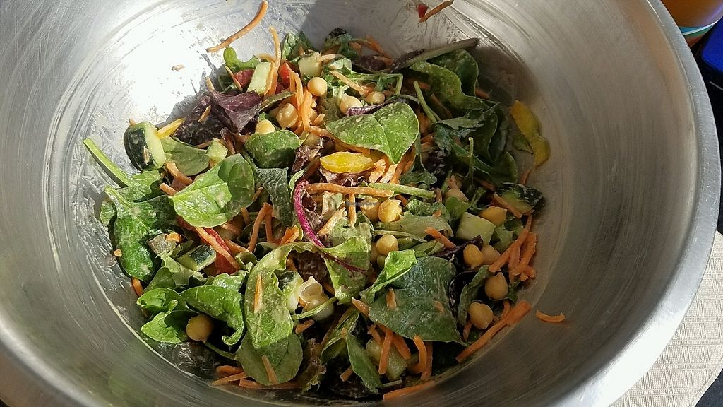 "Photo of Greens Up - Main St  by <a href=""/members/profile/eric"">eric</a> <br/>build your own salad with Thai peanut dressing <br/> November 3, 2017  - <a href='/contact/abuse/image/28770/321545'>Report</a>"
