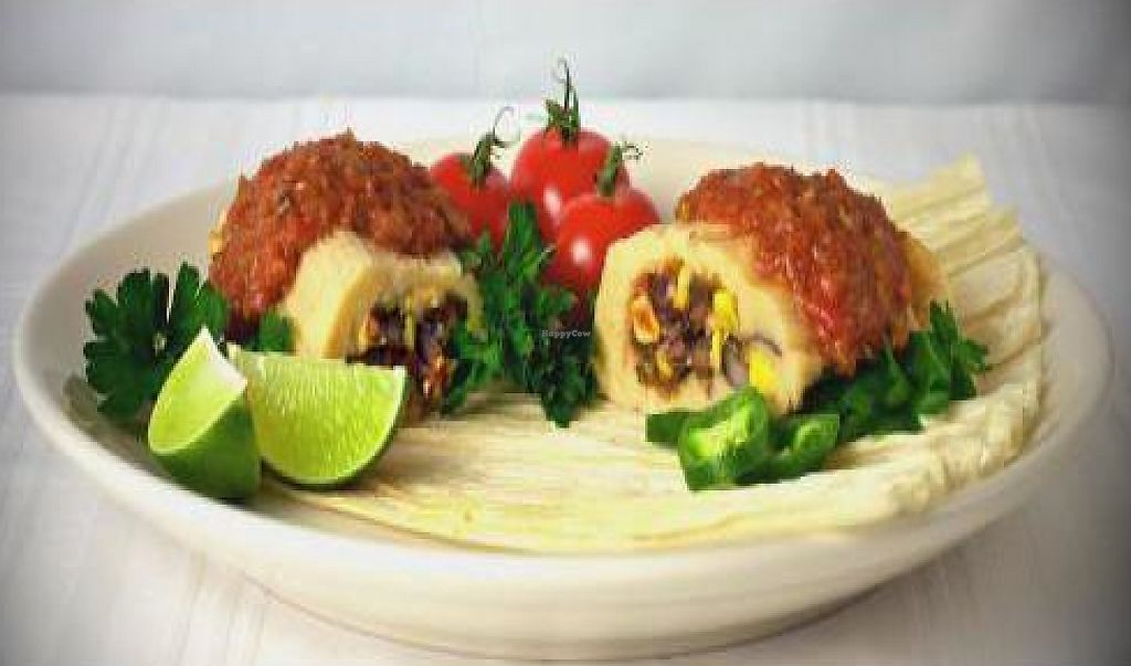 """Photo of Boulder Tamales  by <a href=""""/members/profile/bouldertamales"""">bouldertamales</a> <br/>Boulder Tamales Organic Large Vegan Black Bean, Spinach, Corn Tamale.  They use X-tra virgin  Olive Oil and Vegan Bouillon.  All Organic and fresh <br/> December 6, 2011  - <a href='/contact/abuse/image/28818/191060'>Report</a>"""