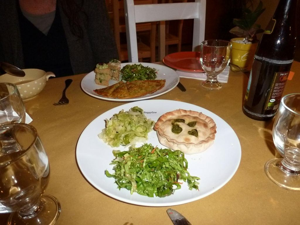 """Photo of Singola Ristorante Naturale  by <a href=""""/members/profile/CarolineLigtenberg"""">CarolineLigtenberg</a> <br/>Nice served the food on our plates and tasted delicious too <br/> January 19, 2014  - <a href='/contact/abuse/image/28831/62748'>Report</a>"""