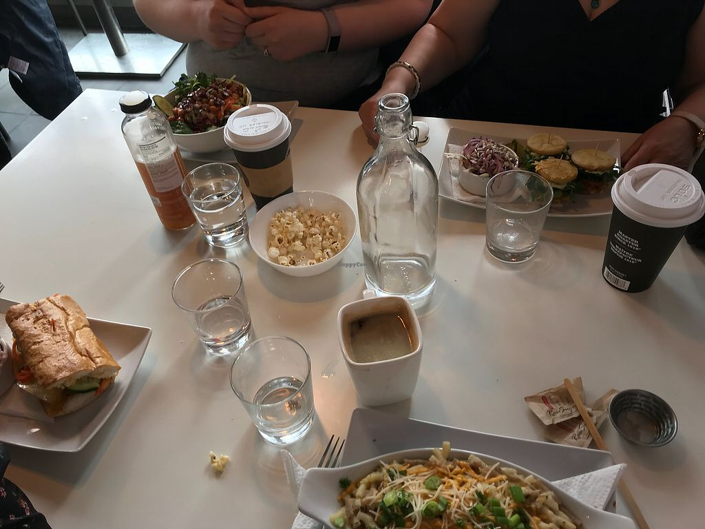 "Photo of Chomp Vegan Eatery  by <a href=""/members/profile/ohstephyy"">ohstephyy</a> <br/>Mac and cheese, bahn mi, sliders and bowl <br/> April 9, 2018  - <a href='/contact/abuse/image/28869/382988'>Report</a>"