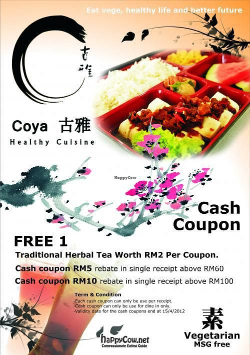 """Photo of Coya Healthy Cuisine  by <a href=""""/members/profile/william79"""">william79</a> <br/>Promotion until 15/4/2012 <br/> March 3, 2012  - <a href='/contact/abuse/image/28870/29106'>Report</a>"""