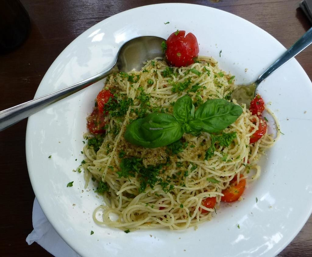 "Photo of Falscher Hase  by <a href=""/members/profile/barbaramaidel"">barbaramaidel</a> <br/>Pasta with tomatoes, pepper and basil <br/> August 13, 2014  - <a href='/contact/abuse/image/28876/192533'>Report</a>"