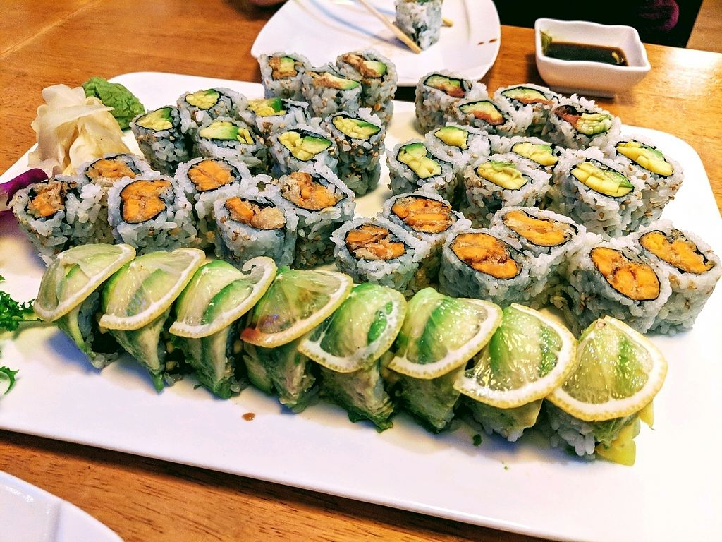 """Photo of Momo Japanese Fusion Restaurant  by <a href=""""/members/profile/DustinSchriffert"""">DustinSchriffert</a> <br/>Vegan sushi <br/> January 15, 2018  - <a href='/contact/abuse/image/28893/347038'>Report</a>"""
