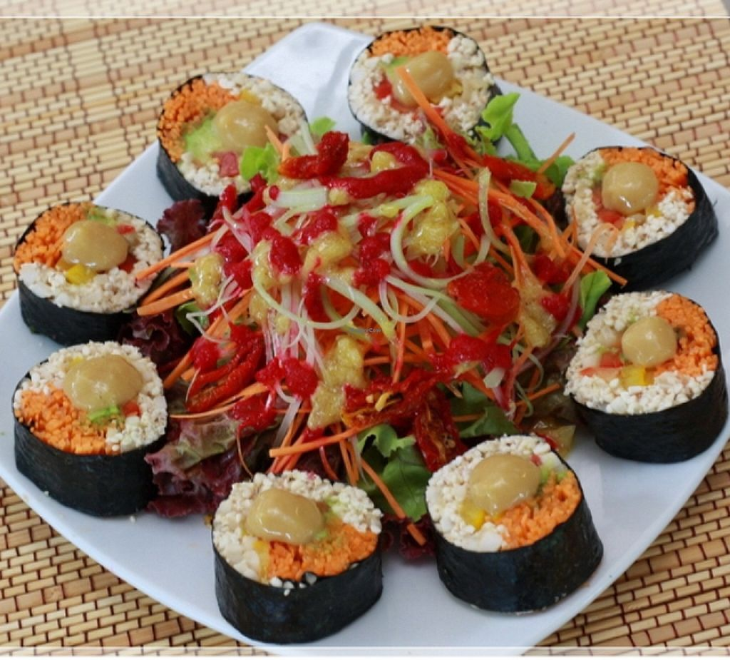 """Photo of Rasayana Raw Food Cafe  by <a href=""""/members/profile/Amonrat"""">Amonrat</a> <br/>Barley sushi <br/> February 4, 2016  - <a href='/contact/abuse/image/28929/134931'>Report</a>"""