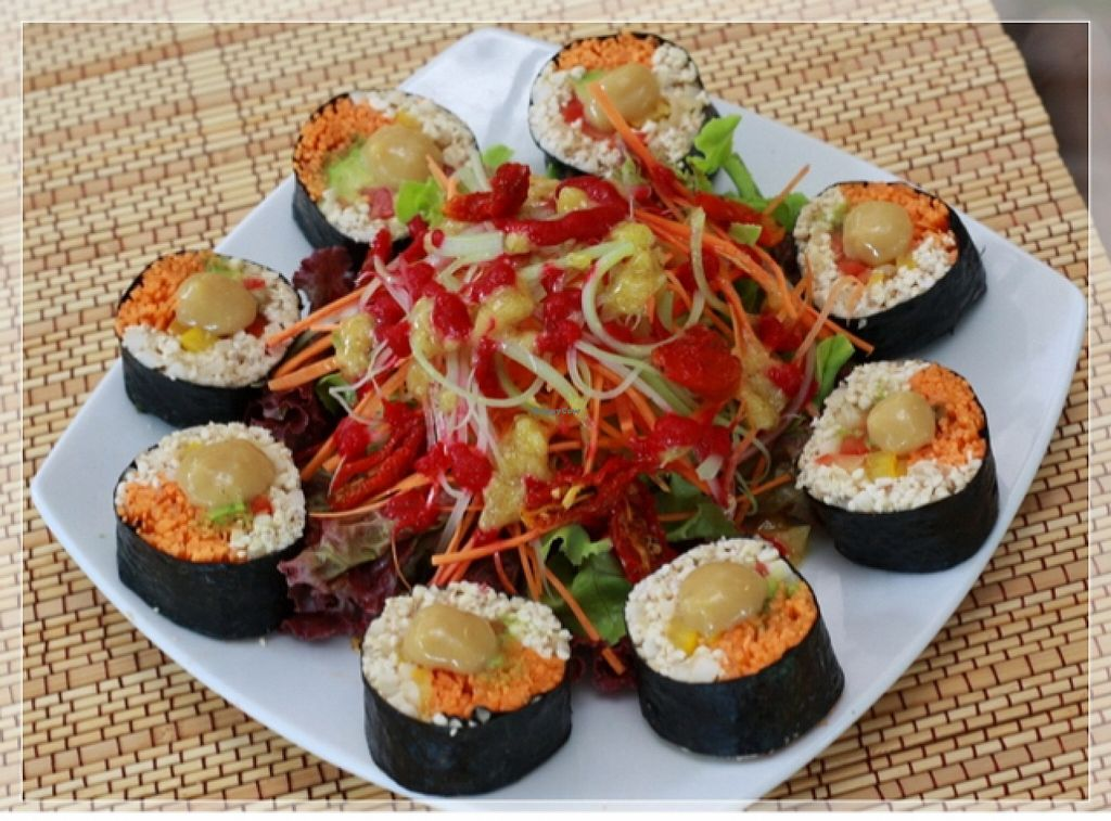 """Photo of Rasayana Raw Food Cafe  by <a href=""""/members/profile/Amonrat"""">Amonrat</a> <br/>barley sushi <br/> February 4, 2016  - <a href='/contact/abuse/image/28929/134943'>Report</a>"""