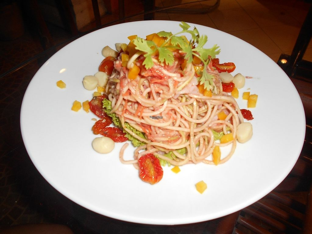 """Photo of Rasayana Raw Food Cafe  by <a href=""""/members/profile/Kelly%20Kelly"""">Kelly Kelly</a> <br/>Rasayana Raw Food Cafe - Thai Pasta - Yummy! <br/> October 29, 2016  - <a href='/contact/abuse/image/28929/185136'>Report</a>"""
