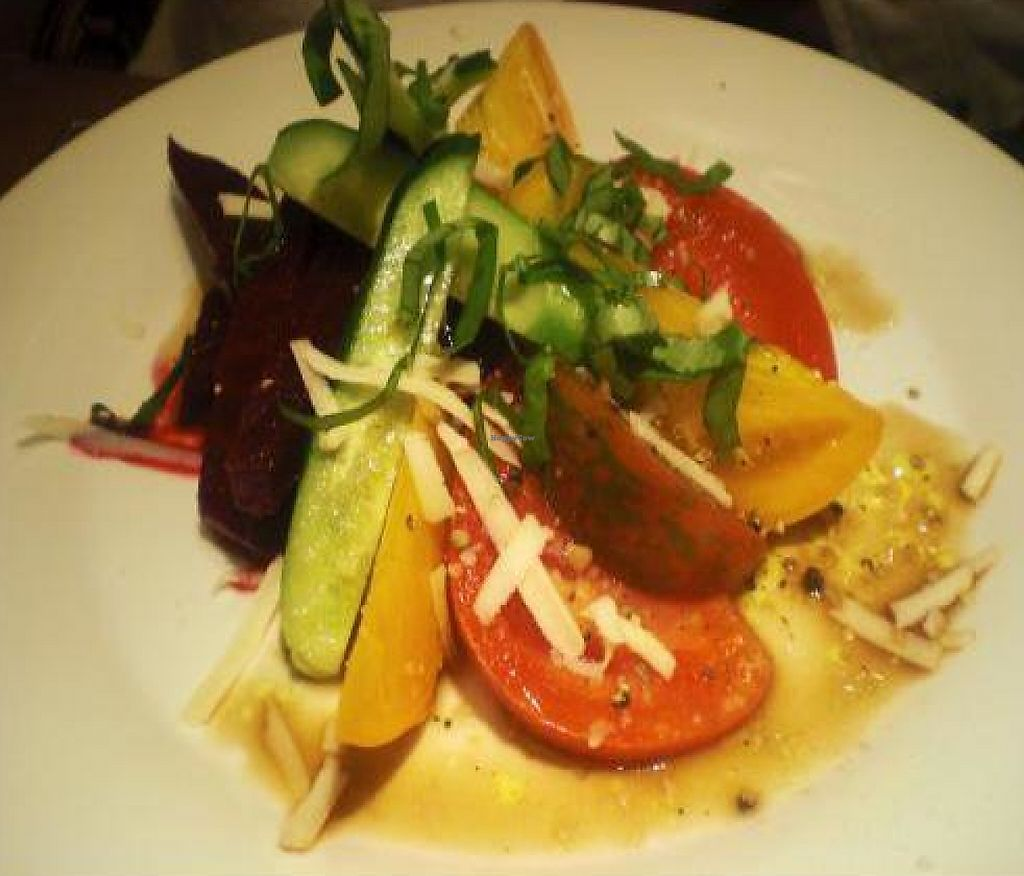 """Photo of Dobhan  by <a href=""""/members/profile/ali.seiter"""">ali.seiter</a> <br/>Farmers market salad special with pickled beets, cucumbers, tomatoes, and basil <br/> October 28, 2011  - <a href='/contact/abuse/image/28938/188521'>Report</a>"""