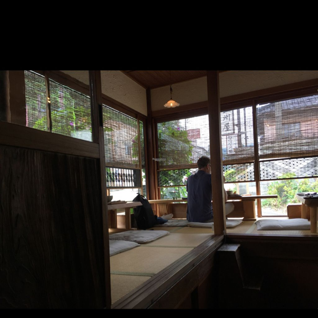 """Photo of Yasai Cafe Meguri  by <a href=""""/members/profile/paulkates"""">paulkates</a> <br/>Japanese style seating <br/> August 13, 2016  - <a href='/contact/abuse/image/28944/168064'>Report</a>"""