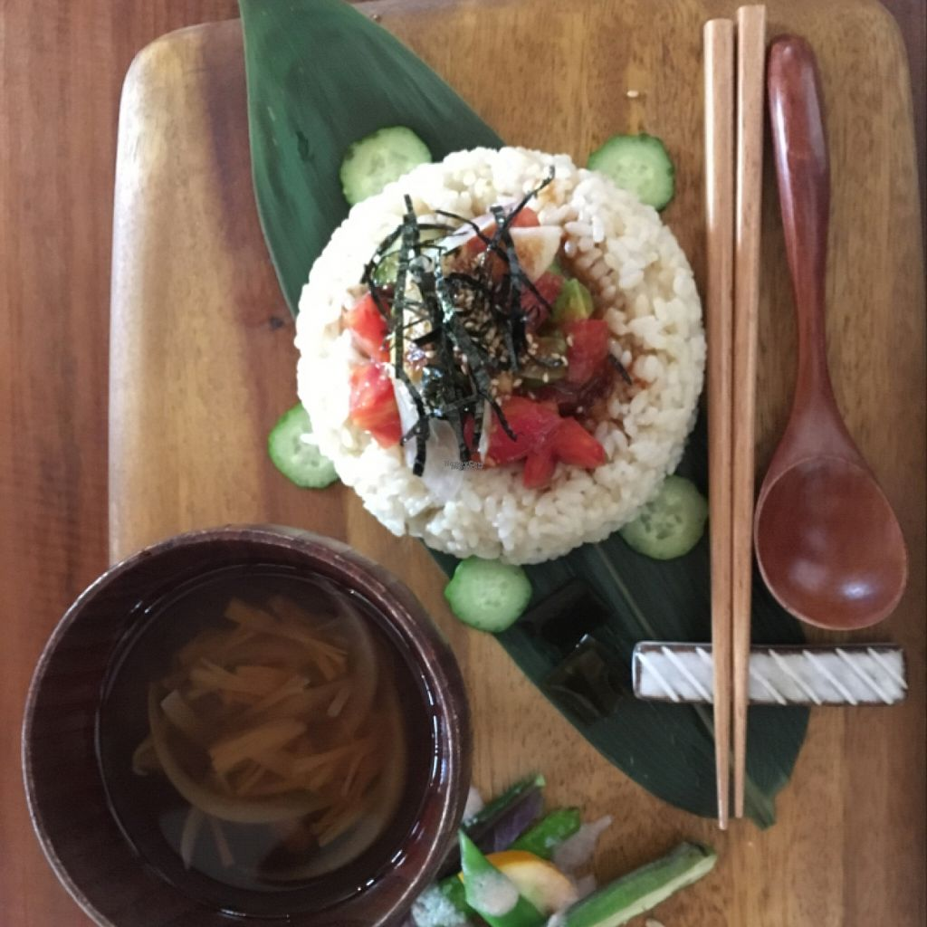 """Photo of Yasai Cafe Meguri  by <a href=""""/members/profile/paulkates"""">paulkates</a> <br/>Korean-style avocado & tomato rice set <br/> August 13, 2016  - <a href='/contact/abuse/image/28944/168066'>Report</a>"""