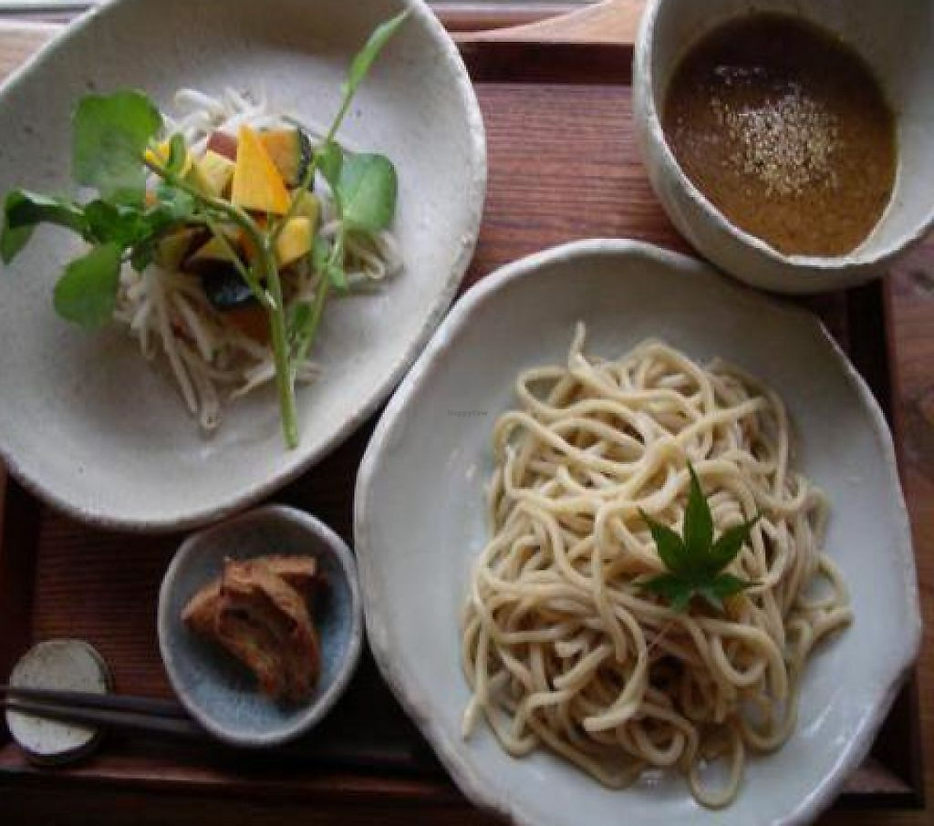 """Photo of Yasai Cafe Meguri  by <a href=""""/members/profile/Ricardo"""">Ricardo</a> <br/>A sample of the food I had. The noodle sauce was very tasty. The price of the menu was 1380 yen <br/> October 30, 2011  - <a href='/contact/abuse/image/28944/188550'>Report</a>"""