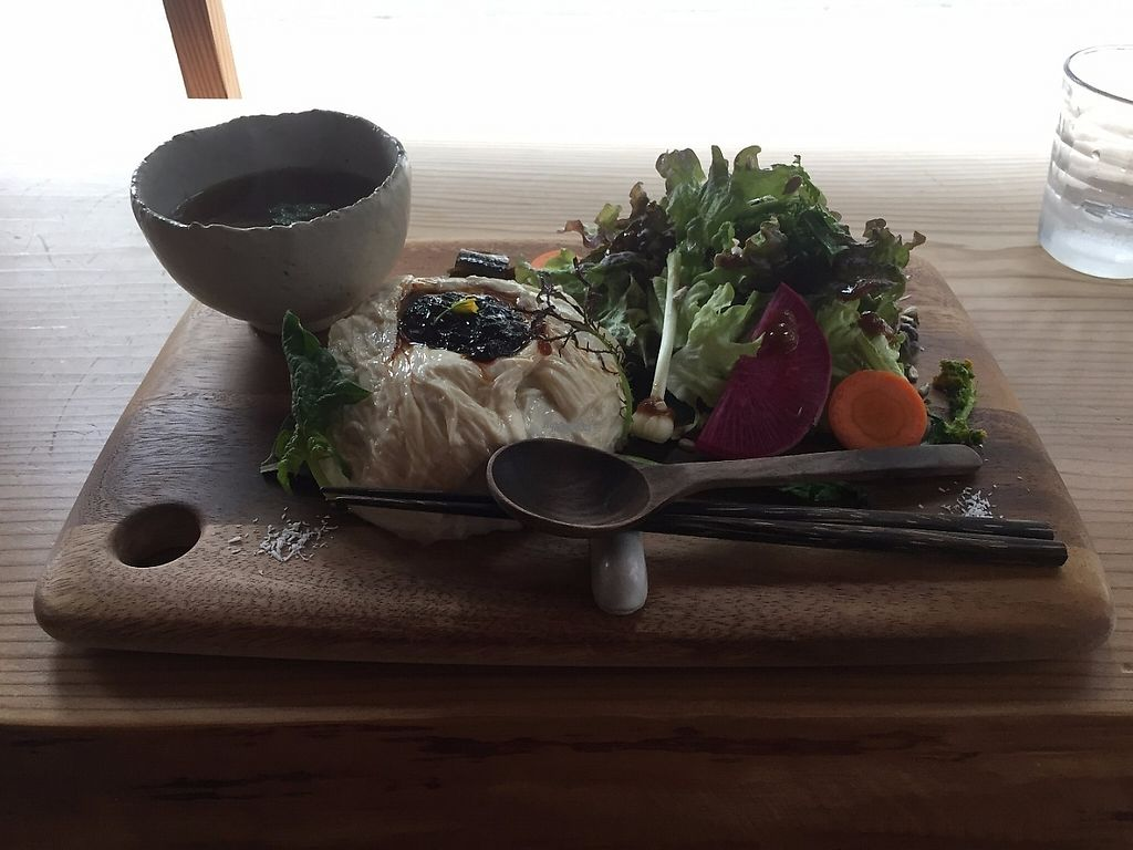 """Photo of Yasai Cafe Meguri  by <a href=""""/members/profile/Emilyk_90"""">Emilyk_90</a> <br/>tofu skin and mushroom soup <br/> April 23, 2017  - <a href='/contact/abuse/image/28944/251460'>Report</a>"""