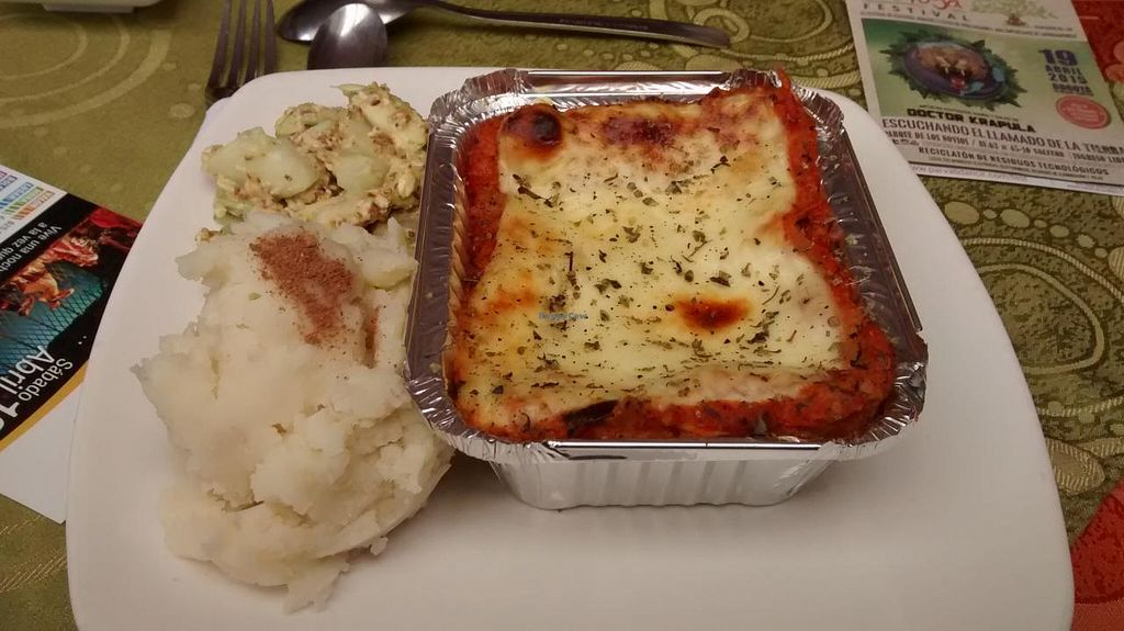 """Photo of Govindas Gourmet - Av Calle 3  by <a href=""""/members/profile/AngieQuijanoVeggie"""">AngieQuijanoVeggie</a> <br/>Deliciosa lasagna! <br/> June 16, 2015  - <a href='/contact/abuse/image/28949/106148'>Report</a>"""