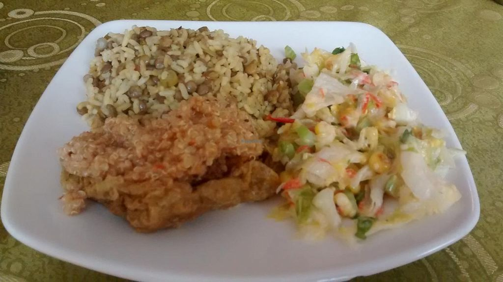 """Photo of Govindas Gourmet - Av Calle 3  by <a href=""""/members/profile/AngieQuijanoVeggie"""">AngieQuijanoVeggie</a> <br/>Good portion <br/> June 16, 2015  - <a href='/contact/abuse/image/28949/106151'>Report</a>"""
