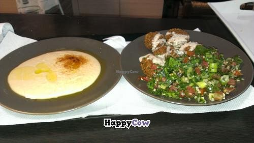 "Photo of Falafel House  by <a href=""/members/profile/or2005"">or2005</a> <br/>Hummus, Falafel and Tabuli <br/> August 1, 2013  - <a href='/contact/abuse/image/28980/52596'>Report</a>"