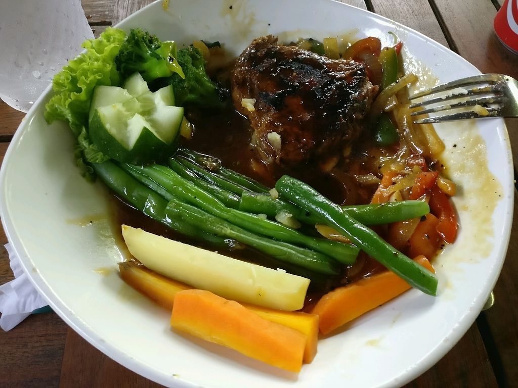 "Photo of Tasty Vegan - Seminyak  by <a href=""/members/profile/ManuelaRenner"">ManuelaRenner</a> <br/>steackersatz <br/> January 9, 2018  - <a href='/contact/abuse/image/29016/344637'>Report</a>"
