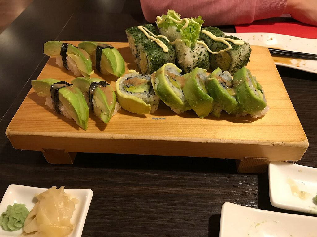 """Photo of Osaka - Dudweilerstrasse  by <a href=""""/members/profile/lisakatez"""">lisakatez</a> <br/>Delicious vegan sushi rolls <br/> April 12, 2018  - <a href='/contact/abuse/image/29032/384720'>Report</a>"""