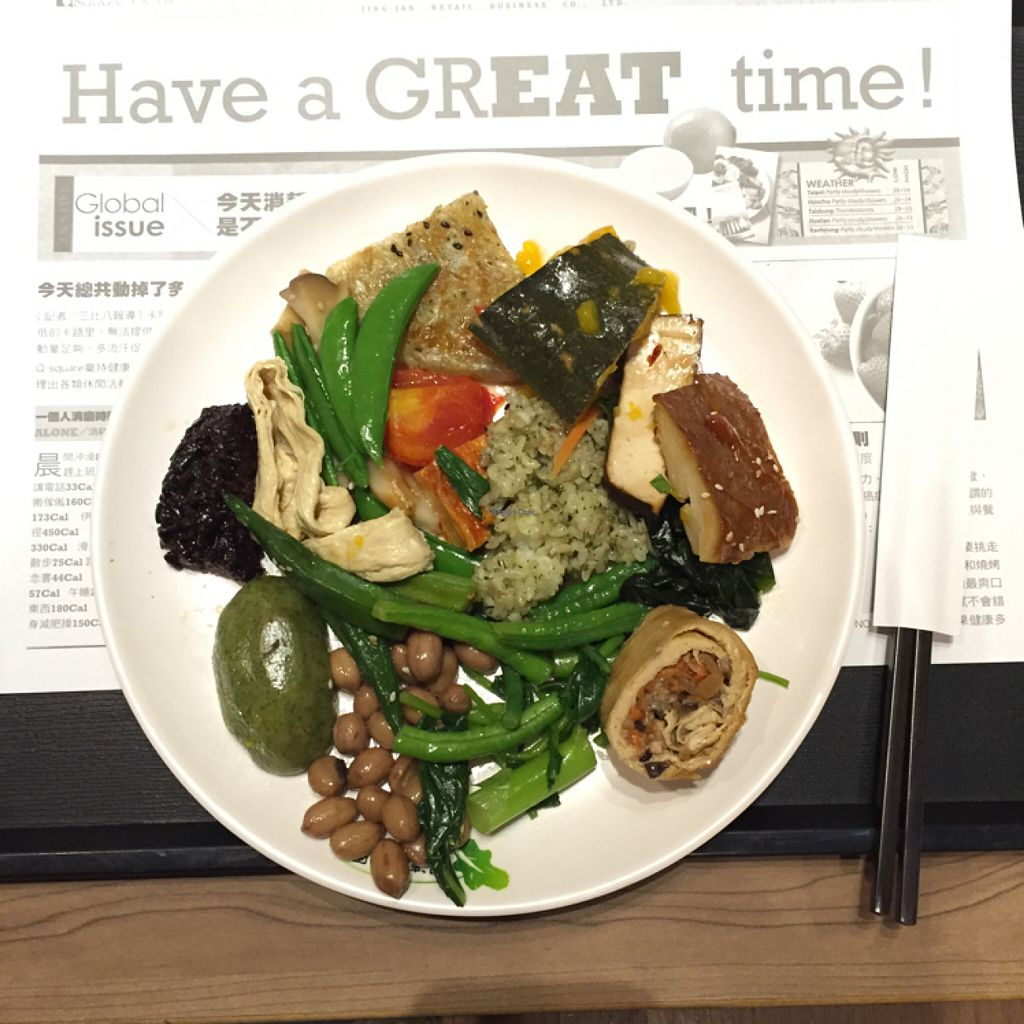 """Photo of Minder Vegetarian - Q Square Mall  by <a href=""""/members/profile/suzagord"""">suzagord</a> <br/>Look how many types of food on one plate! <br/> June 7, 2016  - <a href='/contact/abuse/image/29036/152664'>Report</a>"""