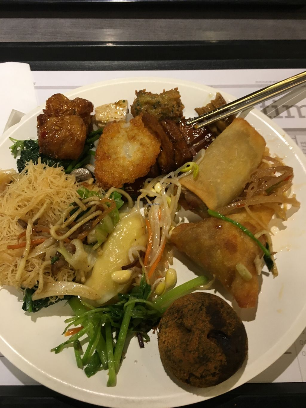 """Photo of Minder Vegetarian - Q Square Mall  by <a href=""""/members/profile/livcamp"""">livcamp</a> <br/>This food looks okay - but it wasn't  <br/> November 25, 2017  - <a href='/contact/abuse/image/29036/328996'>Report</a>"""