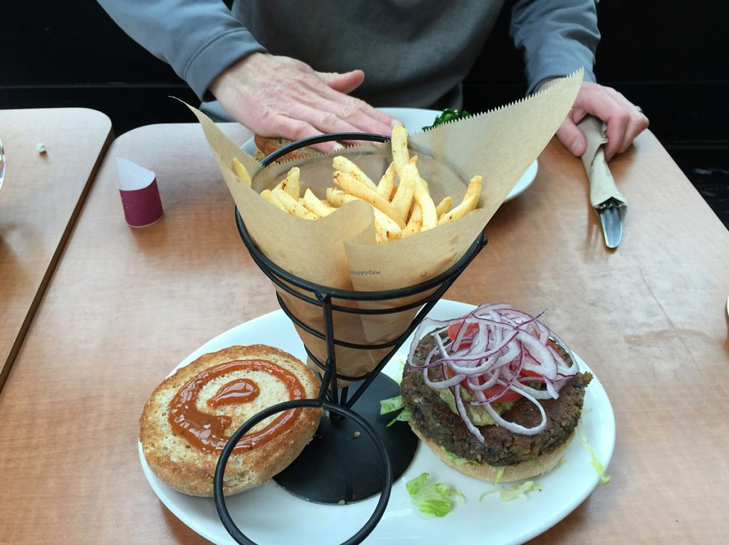 """Photo of Native Foods - Tigard  by <a href=""""/members/profile/Twylight24"""">Twylight24</a> <br/>Build Your Own Burger and Fries  <br/> March 11, 2016  - <a href='/contact/abuse/image/29043/139621'>Report</a>"""