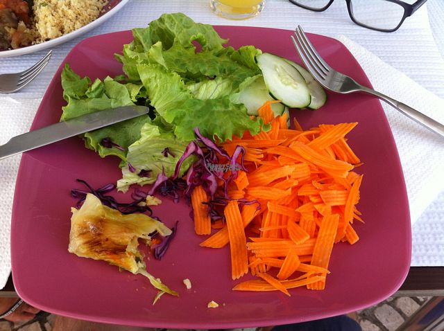 """Photo of Naturalmente  by <a href=""""/members/profile/zippper4"""">zippper4</a> <br/>vegan buffet (unlimites) for 7€, include a fresh fruit of the day! <br/> September 5, 2016  - <a href='/contact/abuse/image/29051/173765'>Report</a>"""