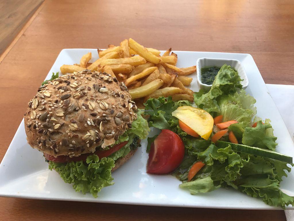 "Photo of Le Cours en Vert  by <a href=""/members/profile/SimonR"">SimonR</a> <br/>veggie burger <br/> July 19, 2017  - <a href='/contact/abuse/image/29056/282229'>Report</a>"