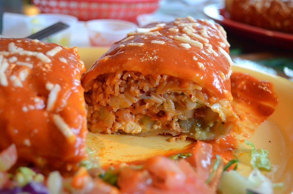"""Photo of El Papagayo  by <a href=""""/members/profile/alexandra_vegan"""">alexandra_vegan</a> <br/>Wet chimichanga with chile colorado feeling <br/> November 28, 2016  - <a href='/contact/abuse/image/29059/195489'>Report</a>"""