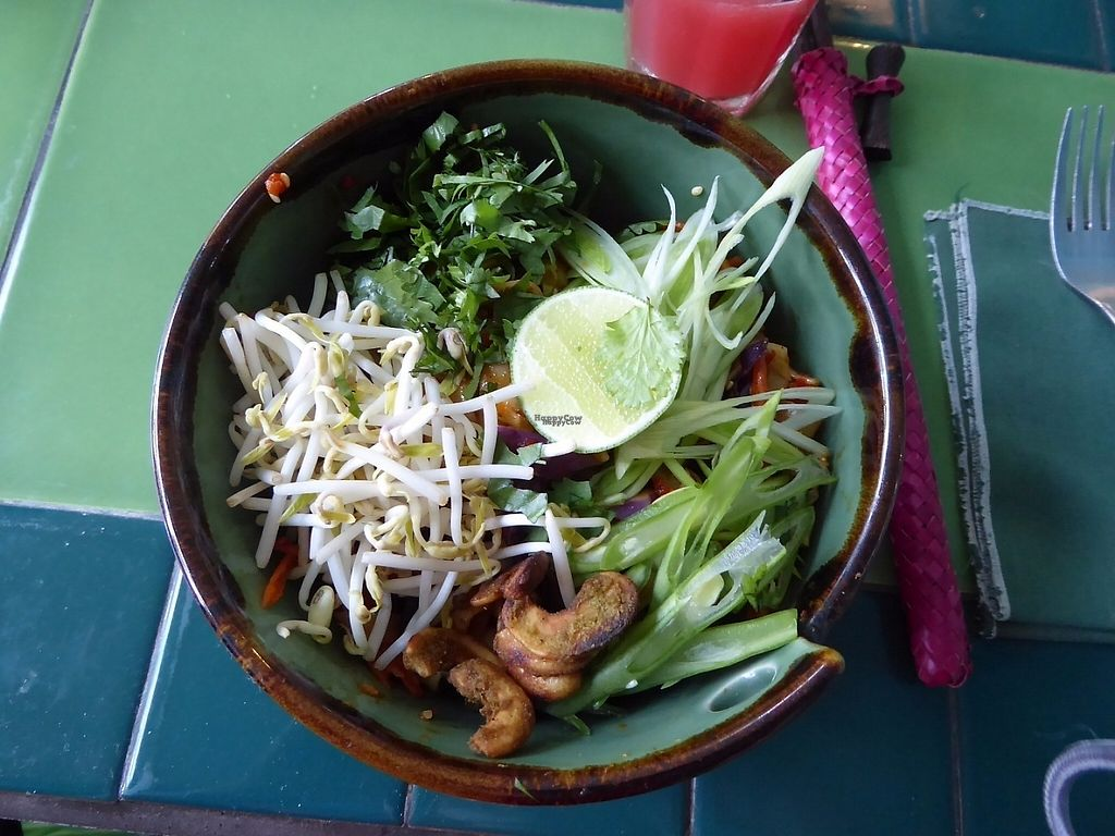 """Photo of Akar Cafe  by <a href=""""/members/profile/VeganNatascha"""">VeganNatascha</a> <br/>Noodles tossed in Sesame Seeds with Crisp Vegetables <br/> December 14, 2016  - <a href='/contact/abuse/image/29077/200963'>Report</a>"""