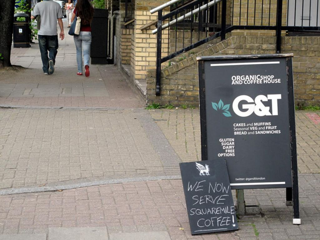 """Photo of CLOSED: G and T Coffee House  by <a href=""""/members/profile/lallilaranja"""">lallilaranja</a> <br/>walking along Cambridge Heath Road <br/> June 2, 2014  - <a href='/contact/abuse/image/29078/71241'>Report</a>"""