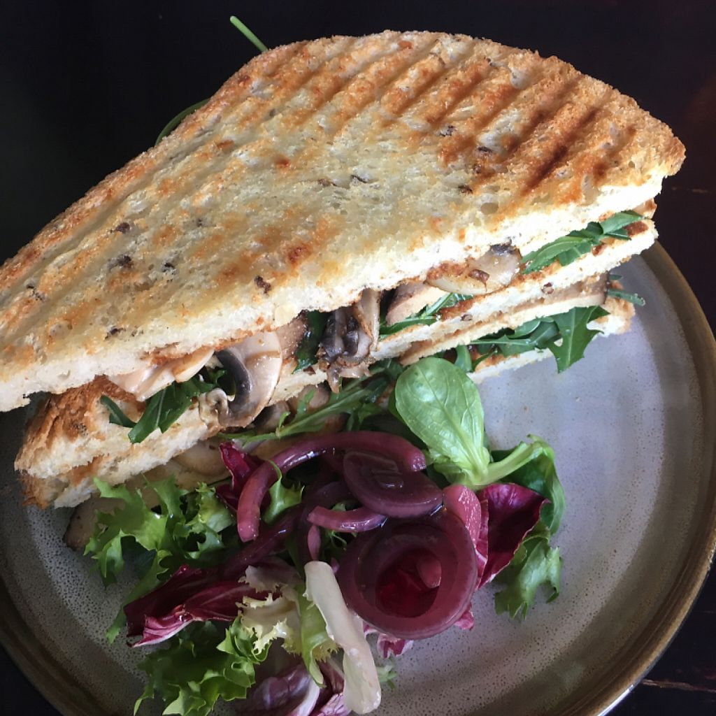 """Photo of Beanos  by <a href=""""/members/profile/broganlane"""">broganlane</a> <br/>Smoked tofu and mushroom sandwich  <br/> April 8, 2017  - <a href='/contact/abuse/image/29081/245843'>Report</a>"""
