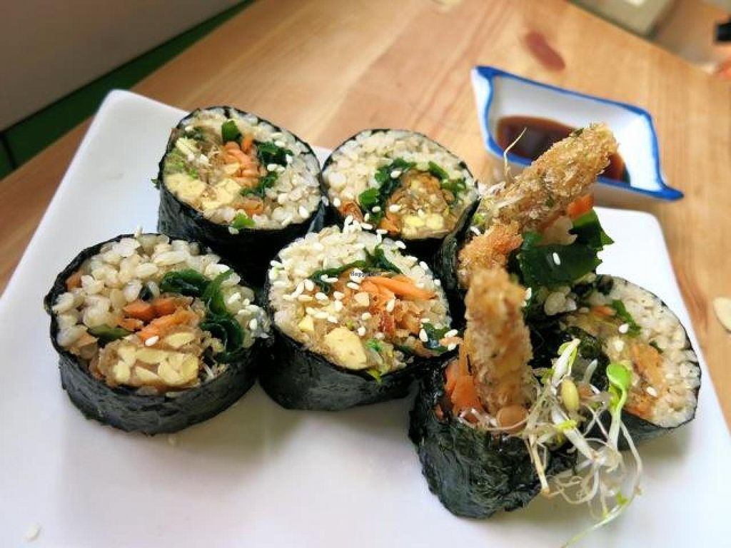"""Photo of TerraZen Centre  by <a href=""""/members/profile/Chnanis"""">Chnanis</a> <br/>Crispy Tempeh Sushi <br/> August 27, 2014  - <a href='/contact/abuse/image/29084/78335'>Report</a>"""