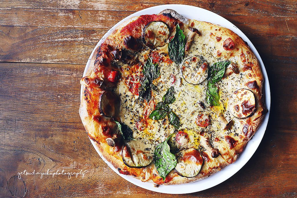 """Photo of Vegans Cafe and Restaurant  by <a href=""""/members/profile/YukiLim"""">YukiLim</a> <br/>Margherita pizza from Vegans Cafe  <br/> July 15, 2017  - <a href='/contact/abuse/image/29114/280665'>Report</a>"""