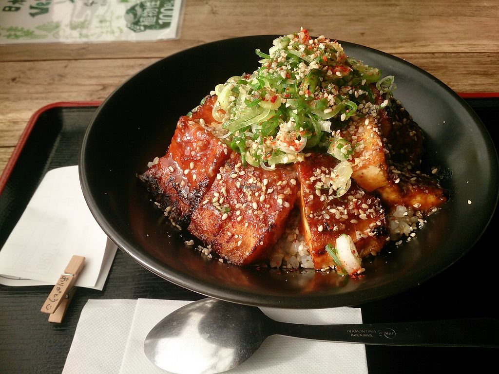 """Photo of Vegans Cafe and Restaurant  by <a href=""""/members/profile/FoodIsNeverWaste"""">FoodIsNeverWaste</a> <br/>Fried tofu - delicious sauce! Chewy and soft at the same time! <br/> September 18, 2017  - <a href='/contact/abuse/image/29114/305714'>Report</a>"""
