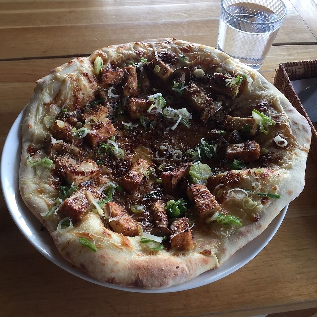 """Photo of Vegans Cafe and Restaurant  by <a href=""""/members/profile/giruja"""">giruja</a> <br/>厚揚げピザ Tofu pizza~ <br/> March 20, 2018  - <a href='/contact/abuse/image/29114/373280'>Report</a>"""