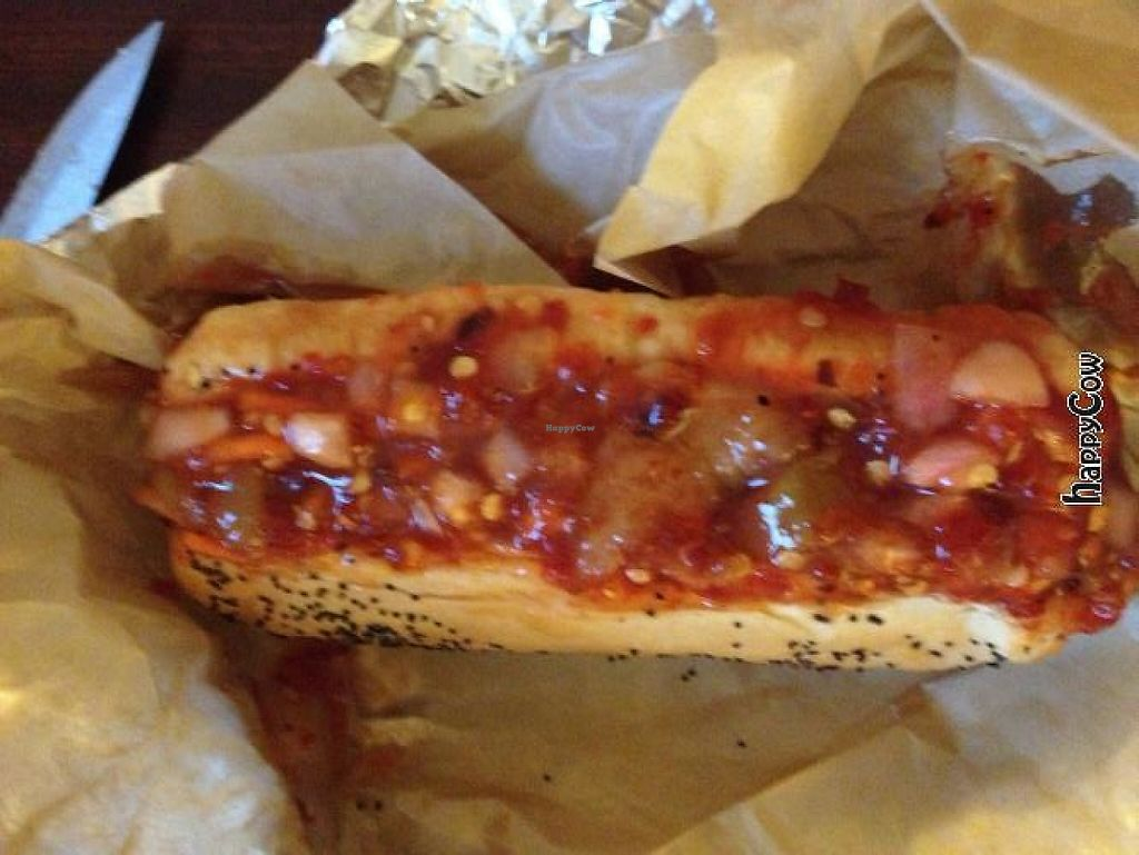 "Photo of Dirty Franks Hot Dog Palace  by <a href=""/members/profile/Ringler"">Ringler</a> <br/>Hot Bollywood  <br/> April 1, 2013  - <a href='/contact/abuse/image/29125/216782'>Report</a>"