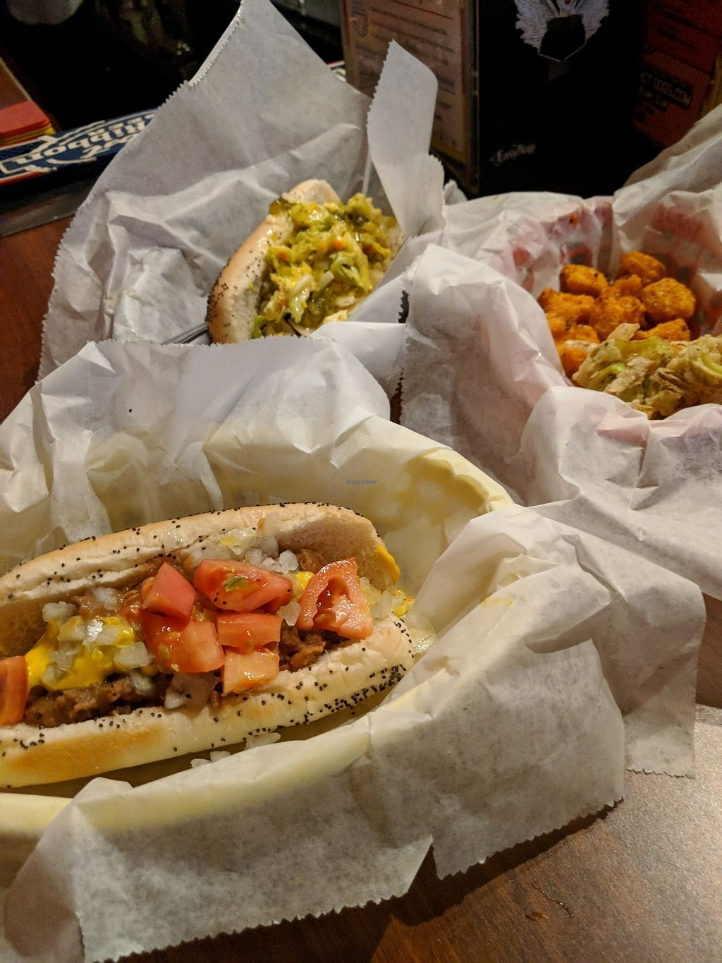 "Photo of Dirty Franks Hot Dog Palace  by <a href=""/members/profile/Toroco"">Toroco</a> <br/>Beano, Picnic Table and Spicy Cauliflower Bites <br/> April 9, 2018  - <a href='/contact/abuse/image/29125/383086'>Report</a>"