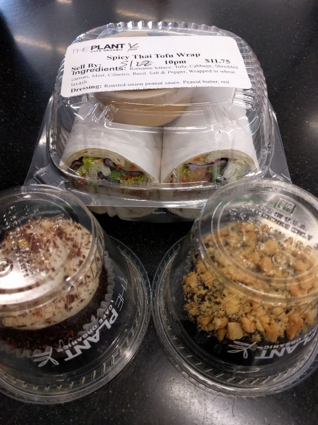 """Photo of SFO - The Plant Organic Cafe - T2  by <a href=""""/members/profile/Sonja%20and%20Dirk"""">Sonja and Dirk</a> <br/>Thai wrap and cupcakes <br/> June 3, 2016  - <a href='/contact/abuse/image/29127/151988'>Report</a>"""