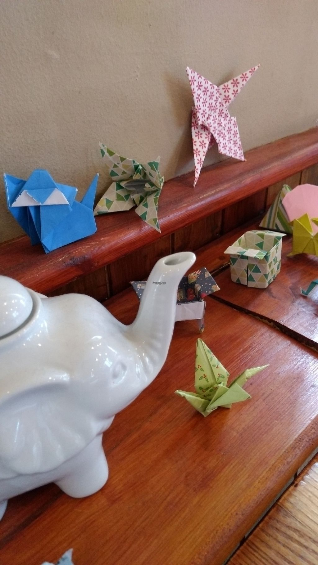 """Photo of Tea Sutra Teahouse  by <a href=""""/members/profile/craigmc"""">craigmc</a> <br/>some origami decor <br/> March 30, 2017  - <a href='/contact/abuse/image/29138/242660'>Report</a>"""