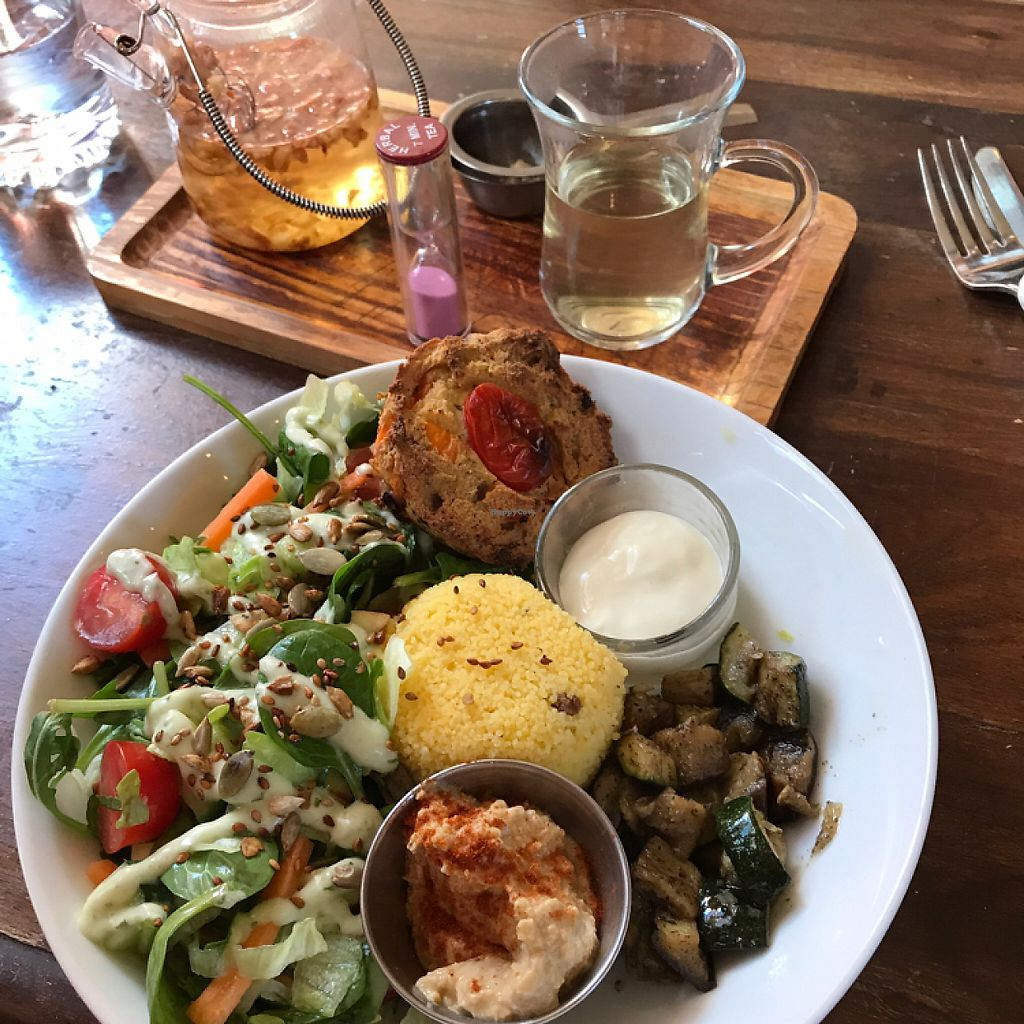 """Photo of Tea Sutra Teahouse  by <a href=""""/members/profile/imogenmichel"""">imogenmichel</a> <br/>Tofu quiche <br/> May 25, 2017  - <a href='/contact/abuse/image/29138/262434'>Report</a>"""