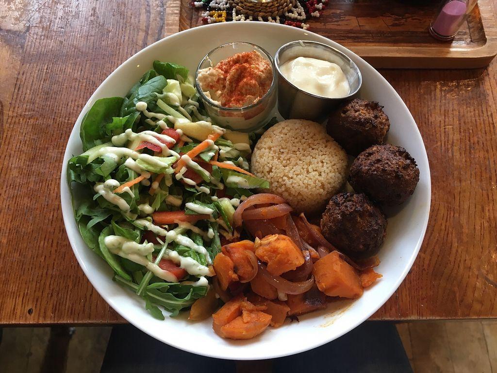 """Photo of Tea Sutra Teahouse  by <a href=""""/members/profile/Imixle"""">Imixle</a> <br/>Lebanese Buddha bowl <br/> August 29, 2017  - <a href='/contact/abuse/image/29138/298543'>Report</a>"""